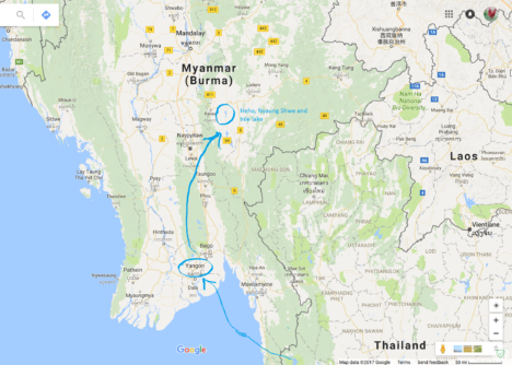 from here to Myanmar